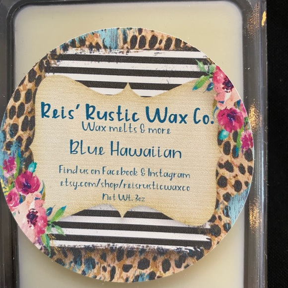 Handmade soy wax melts, Blue Hawaiian scent